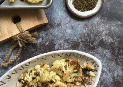 Roasted Cauliflower with Yogurt & Za'atar