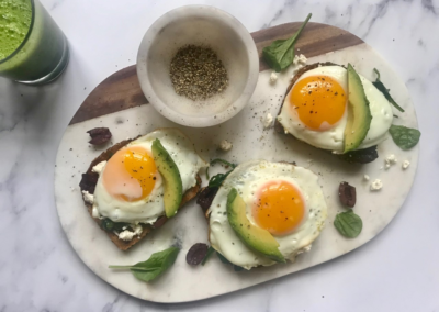 Open-Face Breakfast Sandwich