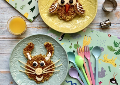 Overnight Oat Pancakes for Kids