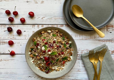 Summer Cherry and Quinoa Salad