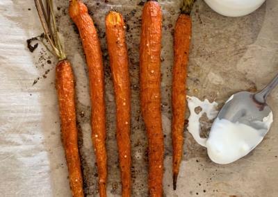 Charred Carrots with Crème Fraiche