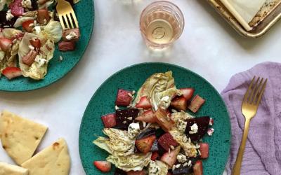 Beet & Rhubarb Salad